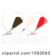 Clipart Icing Piping Bags Royalty Free Vector Illustration