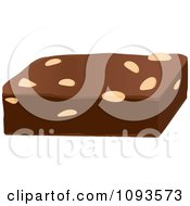Clipart Chocolate Nut Brownie Royalty Free Vector Illustration