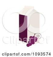 Clipart Carton Of Grape Juice Royalty Free Vector Illustration
