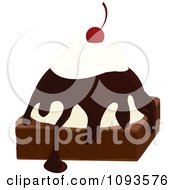 Clipart Brownie Sundae Royalty Free Vector Illustration