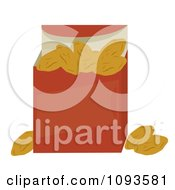 Clipart Box Of Golden Raisins Royalty Free Vector Illustration