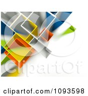 Clipart Aerial View Of Geometric Buildlings In Different Colors With White Copyspace Royalty Free CGI Illustration by chrisroll