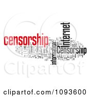 Clipart Internet Censorship Word Collage 2 Royalty Free Illustration by MacX