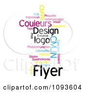 Clipart Color Word Collage 1 Royalty Free Illustration by MacX