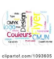 Clipart Color Word Collage 2 Royalty Free Illustration by MacX