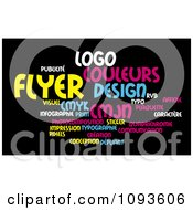 Clipart Color Word Collage 3 Royalty Free Illustration by MacX