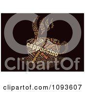 Clipart Cappuccino Word Collage In The Shape Of A Cup And Saucer 1 Royalty Free Illustration by MacX