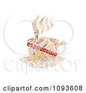 Clipart Cappuccino Word Collage In The Shape Of A Cup And Saucer 2 Royalty Free Illustration by MacX