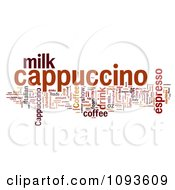 Clipart Cappuccino Word Collage Over White Royalty Free Illustration by MacX