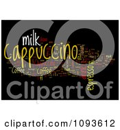Clipart Cappuccino Word Collage Over Black Royalty Free Illustration by MacX