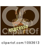 Clipart Espresso Word Collage In The Shape Of A Cup And Saucer 1 Royalty Free Illustration by MacX
