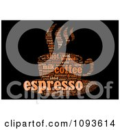 Clipart Espresso Word Collage In The Shape Of A Cup And Saucer 2 Royalty Free Illustration by MacX