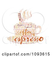 Clipart Espresso Word Collage In The Shape Of A Cup And Saucer 3 Royalty Free Illustration