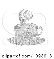 Clipart Espresso Word Collage In The Shape Of A Cup And Saucer 4 Royalty Free Illustration by MacX
