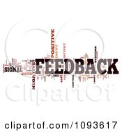 Clipart Feedback Word Collage 1 Royalty Free Illustration by MacX