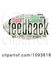 Clipart Feedback Word Collage 2 Royalty Free Illustration by MacX #COLLC1093618-0098
