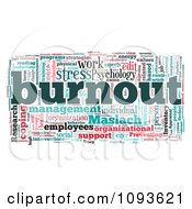 Clipart Work And Stress Burnout Word Collage Royalty Free Illustration
