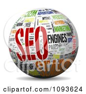 Clipart 3d Sphere With A SEO Word Collage Royalty Free Illustration