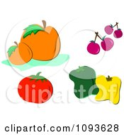 Clipart Fruits And Vegetables Royalty Free Vector Illustration by bpearth