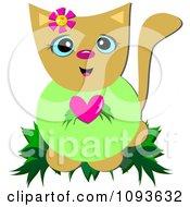 Cat Wearing A Heart