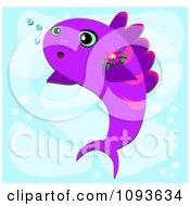 Purple Fish In Blue Water