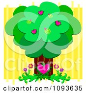 Clipart Tree Of Love Royalty Free Vector Illustration by bpearth