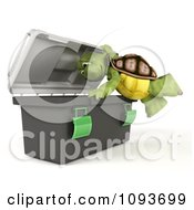 3d Tortoise Looking In A Tool Box
