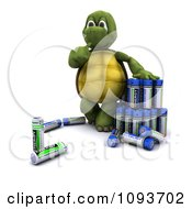 Clipart 3d Tortoise With Batteries Royalty Free Illustration