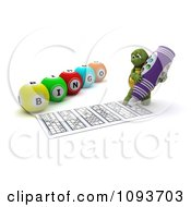 Clipart 3d Tortoise Playing Bingo And Marking His Sheet Royalty Free CGI Illustration by KJ Pargeter