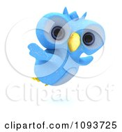 Clipart 3d Blue Owl Flying Royalty Free Illustration