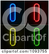 Clipart Blue Red Yellow And Green Neon Capital I Letters Royalty Free CGI Illustration