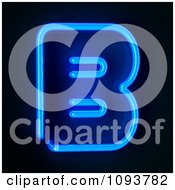 Clipart Blue Neon Capital Letter B Royalty Free CGI Illustration