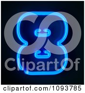 Clipart Blue Neon Number Eight 8 Royalty Free CGI Illustration