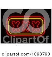 Clipart Neon XXX Sign Royalty Free CGI Illustration by stockillustrations