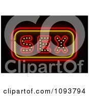 Clipart Neon SEX Sign Royalty Free CGI Illustration by stockillustrations