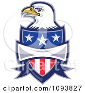 Clipart Bald Eagle And American Shield Royalty Free CGI Illustration