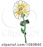 Clipart Friendly Daisy Flower Royalty Free Vector Illustration by dero