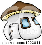 Clipart Mushroom House Royalty Free Vector Illustration by dero