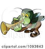 Clipart Beetle Playing A Trumpet Royalty Free Vector Illustration