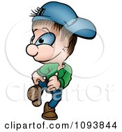 Clipart Boy Walking Royalty Free Vector Illustration by dero