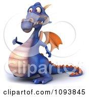 3d Purple Dragon Holding A Thumb Up 1