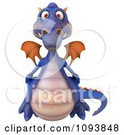 Clipart 3d Purple Dragon Royalty Free CGI Illustration by Julos