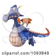 3d Purple Dragon Flying 1