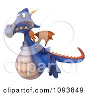 Clipart 3d Purple Dragon Flying 1 Royalty Free CGI Illustration