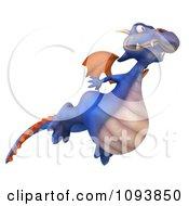 3d Purple Dragon Flying 2
