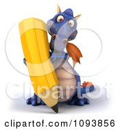 3d Purple Dragon Using A Pencil 1