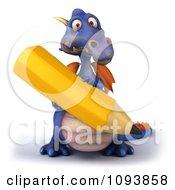 3d Purple Dragon Using A Pencil 3