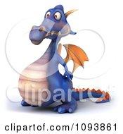 3d Purple Dragon Facing Left