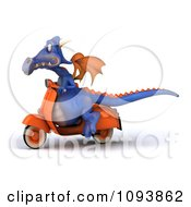3d Purple Dragon Riding A Scooter 1