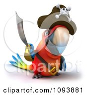 Clipart 3d Macaw Parrot Pirate Holding A Sword Royalty Free CGI Illustration